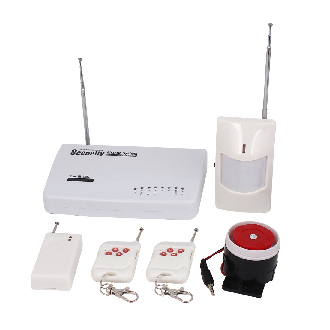 AC 100-240V EU Plug Wireless GSM Autodial SMS Home Security Burglar Alarm System