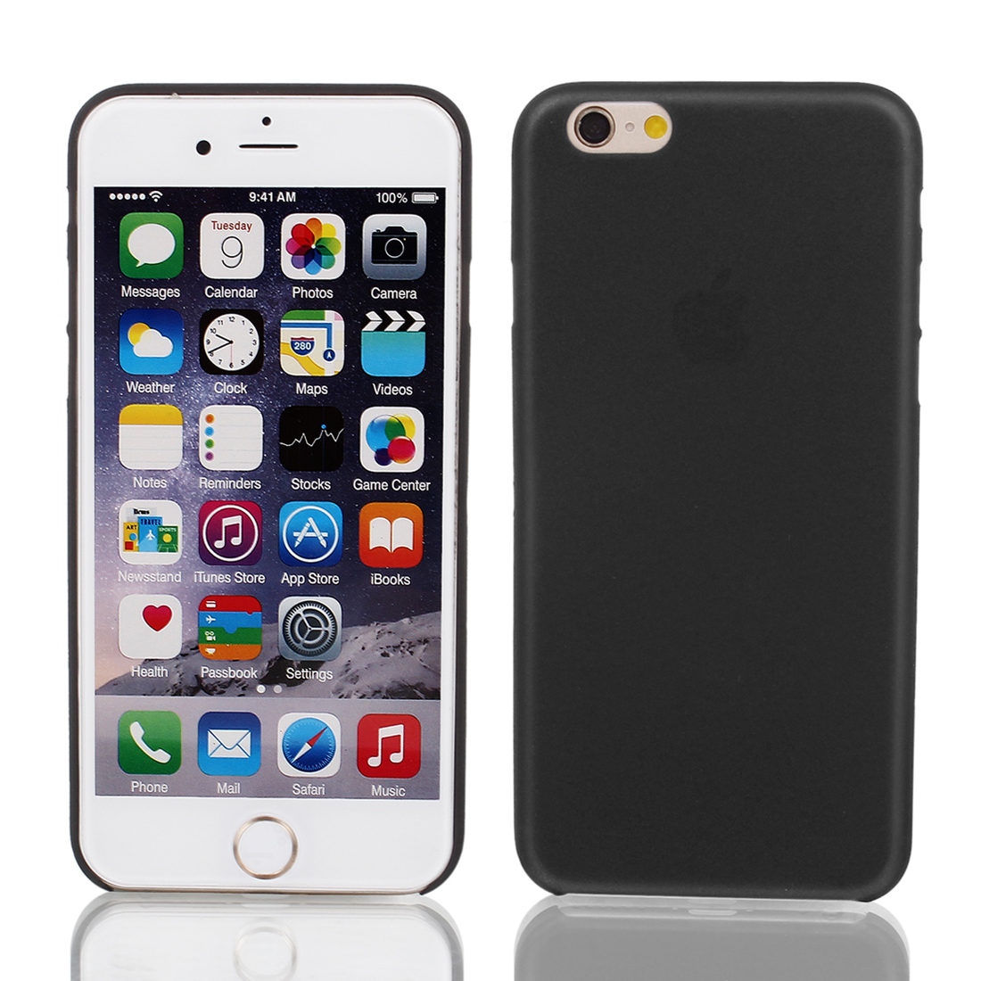 PP Material Soft Back Cover Case Protector Black for Apple iPhone 6 4.7""