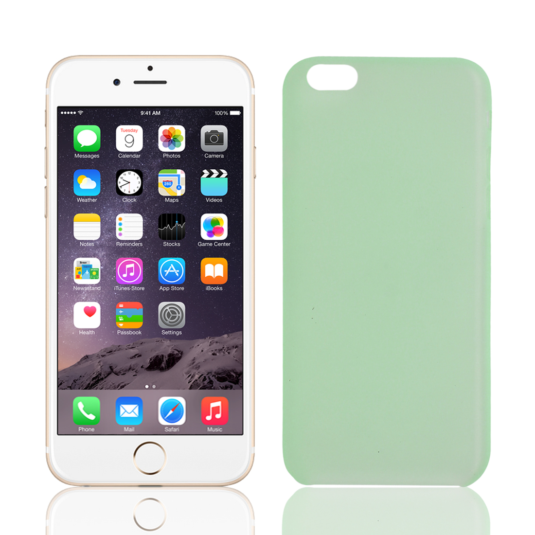 """PP Material Soft Back Cover Case Protector Green for Apple iPhone 6 4.7"""""""