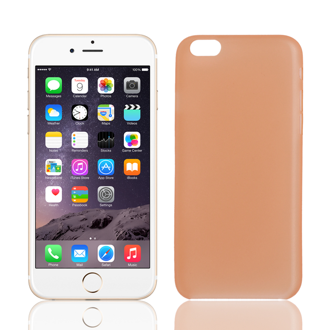 """PP Material Soft Back Cover Case Protector Orange for Apple iPhone 6 4.7"""""""