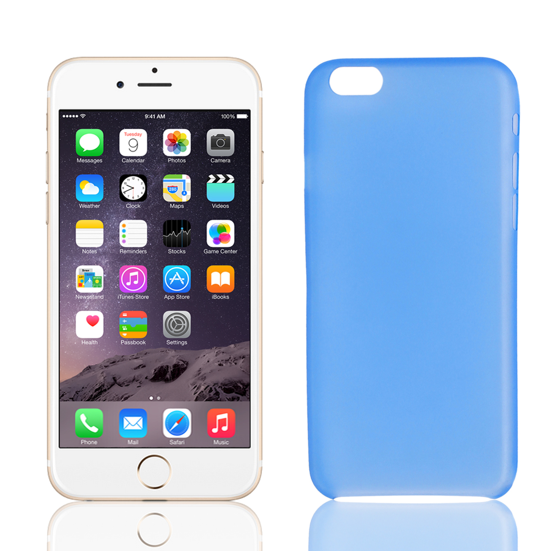 """PP Material Soft Back Cover Case Protector Blue for Apple iPhone 6 4.7"""""""