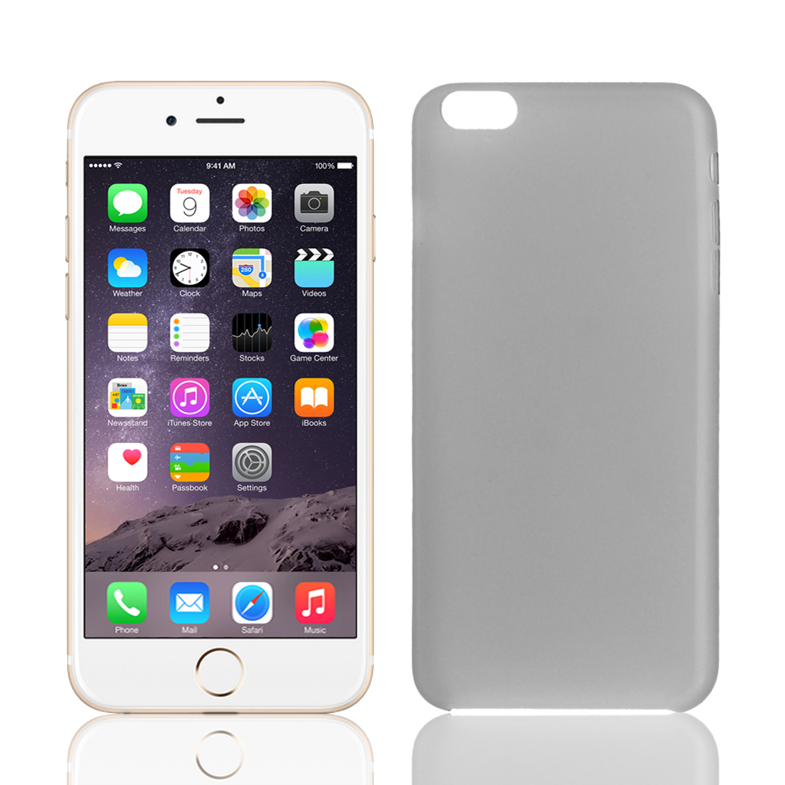 """PP Material Soft Back Cover Case Protector Gray for iPhone 6Plus 5.5"""""""