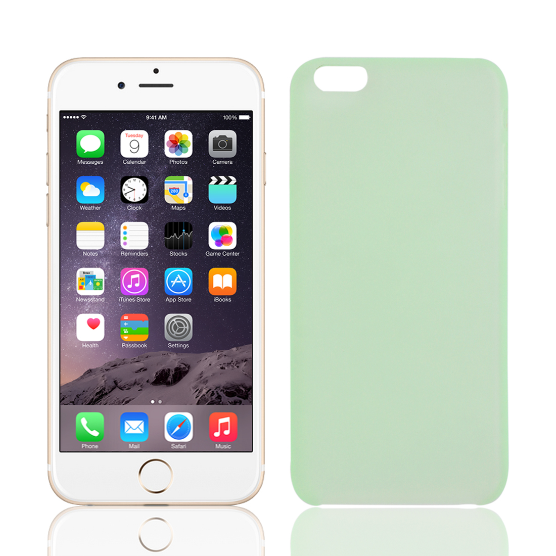 Transparent Ultra Thin Protective Case Cover Skin Green for iPhone 6 Plus 5.5""