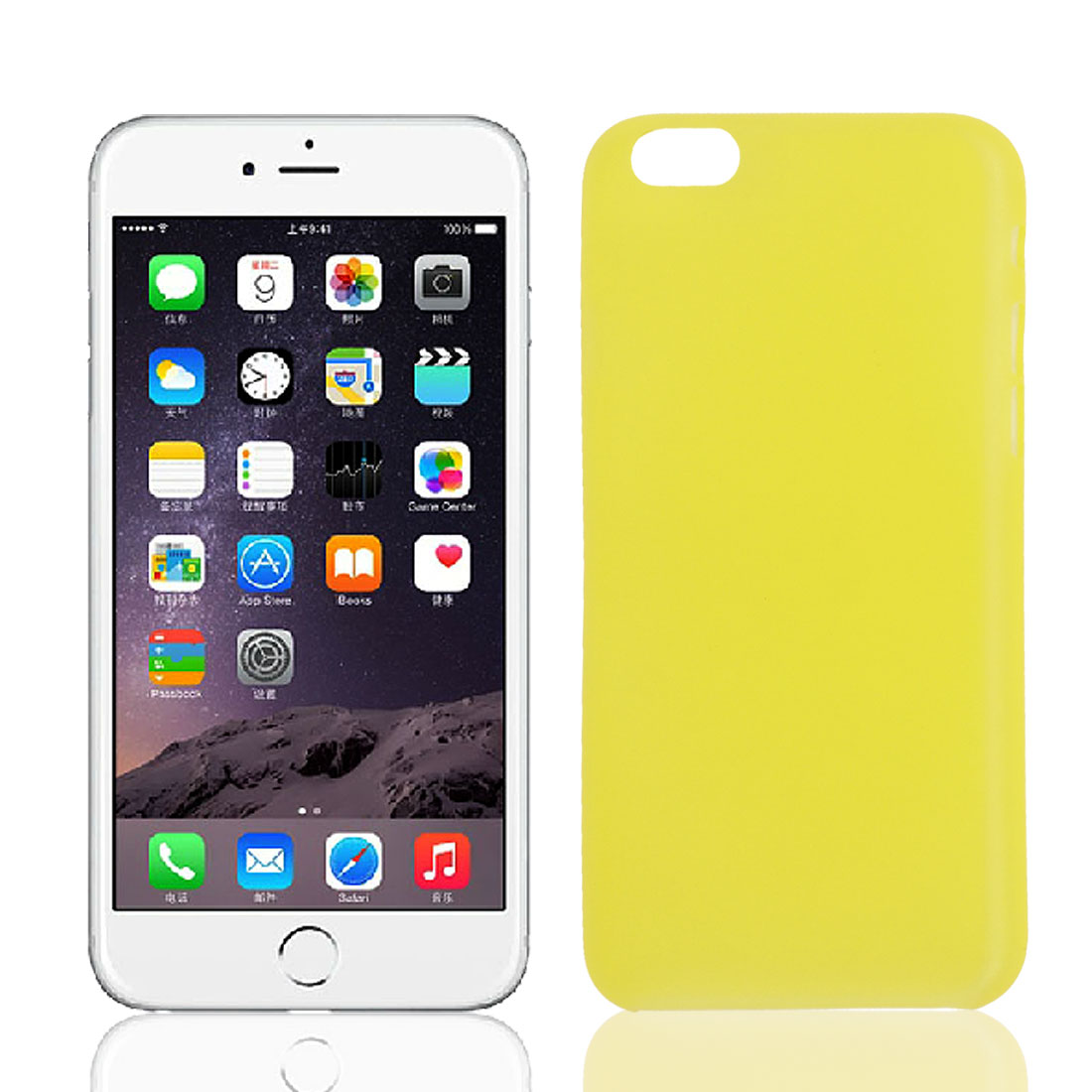 Transparent Ultra Thin Protective Case Cover Skin Yellow for iPhone 6 Plus 5.5""