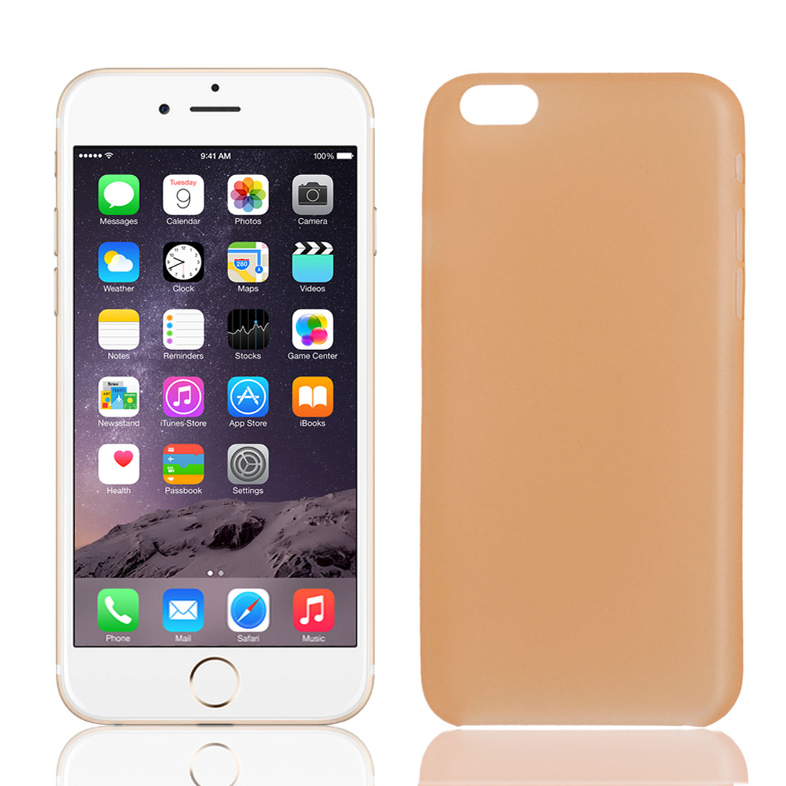 PP Material Soft Back Cover Case Protector Orange for iPhone 6Plus 5.5""