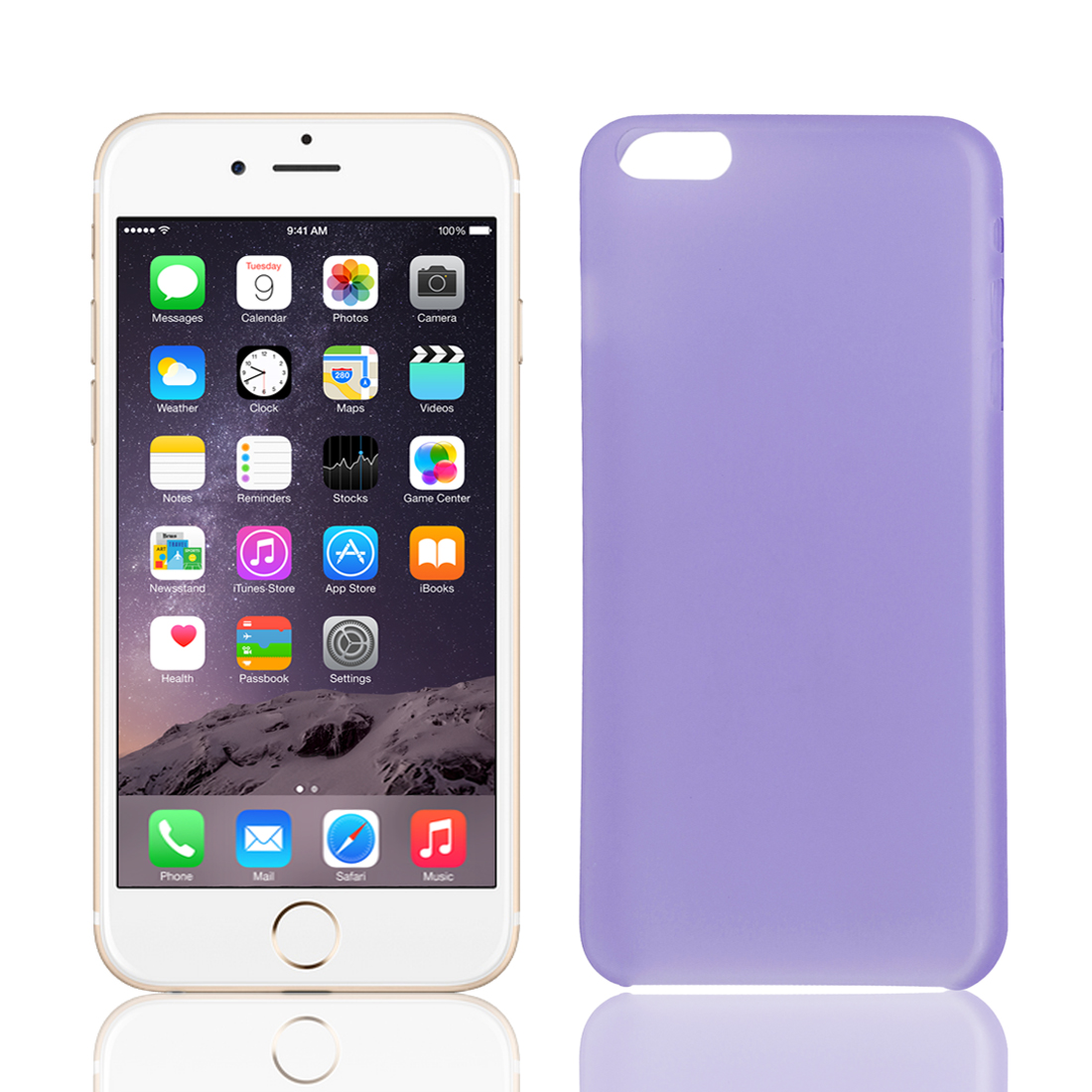 PP Material Soft Back Cover Case Protector Purple for iPhone 6Plus 5.5""