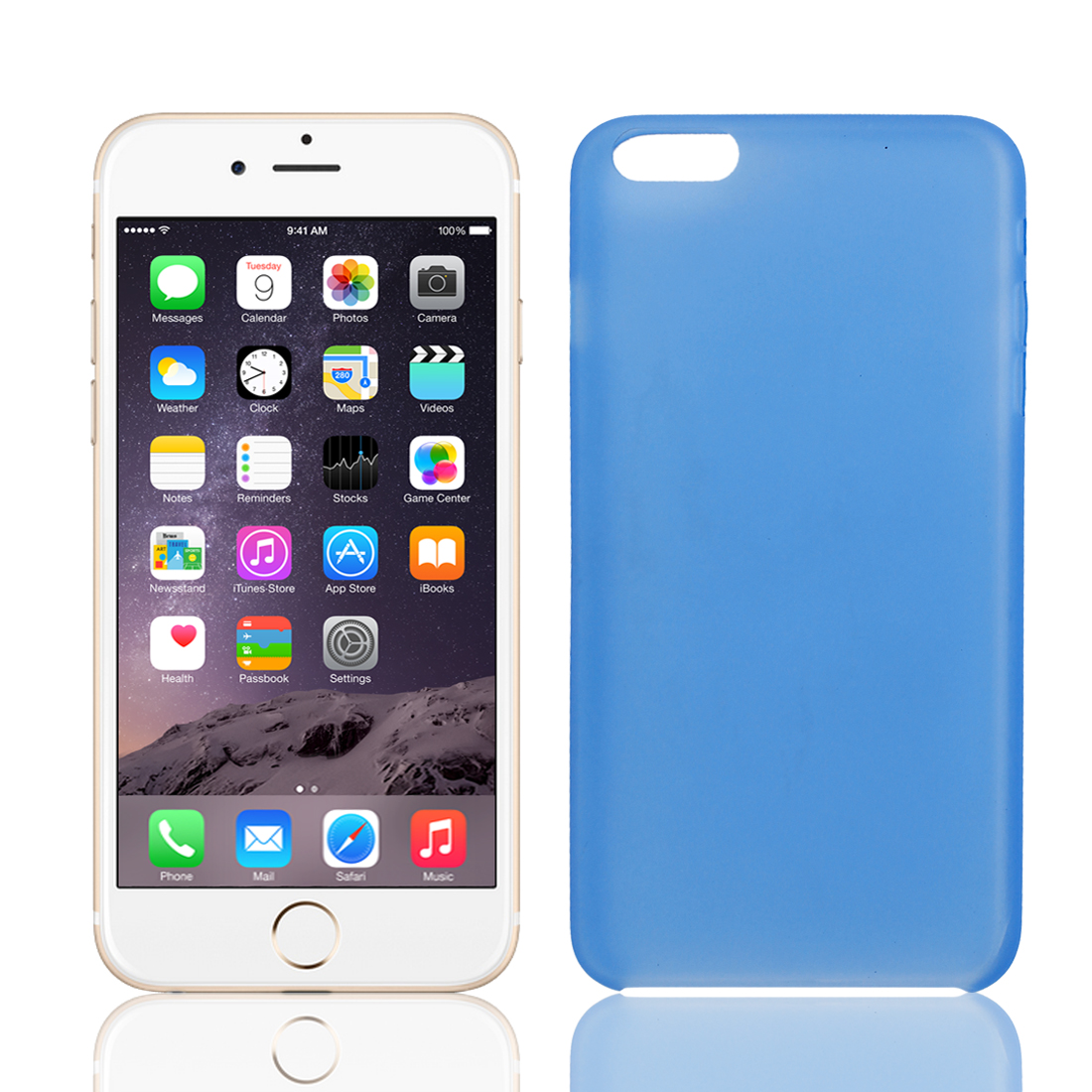 """Transparent Ultra Thin Protective Case Cover Skin Blue for iPhone 6 Plus 5.5"""""""