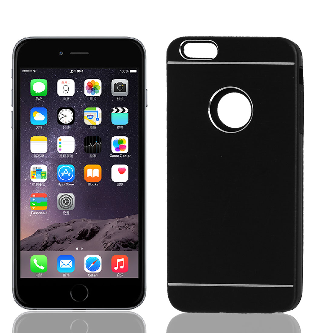 Ultra-Thin Aluminum Bumper Hard Shell Cover Case Black for Apple iPhone 6 Plus