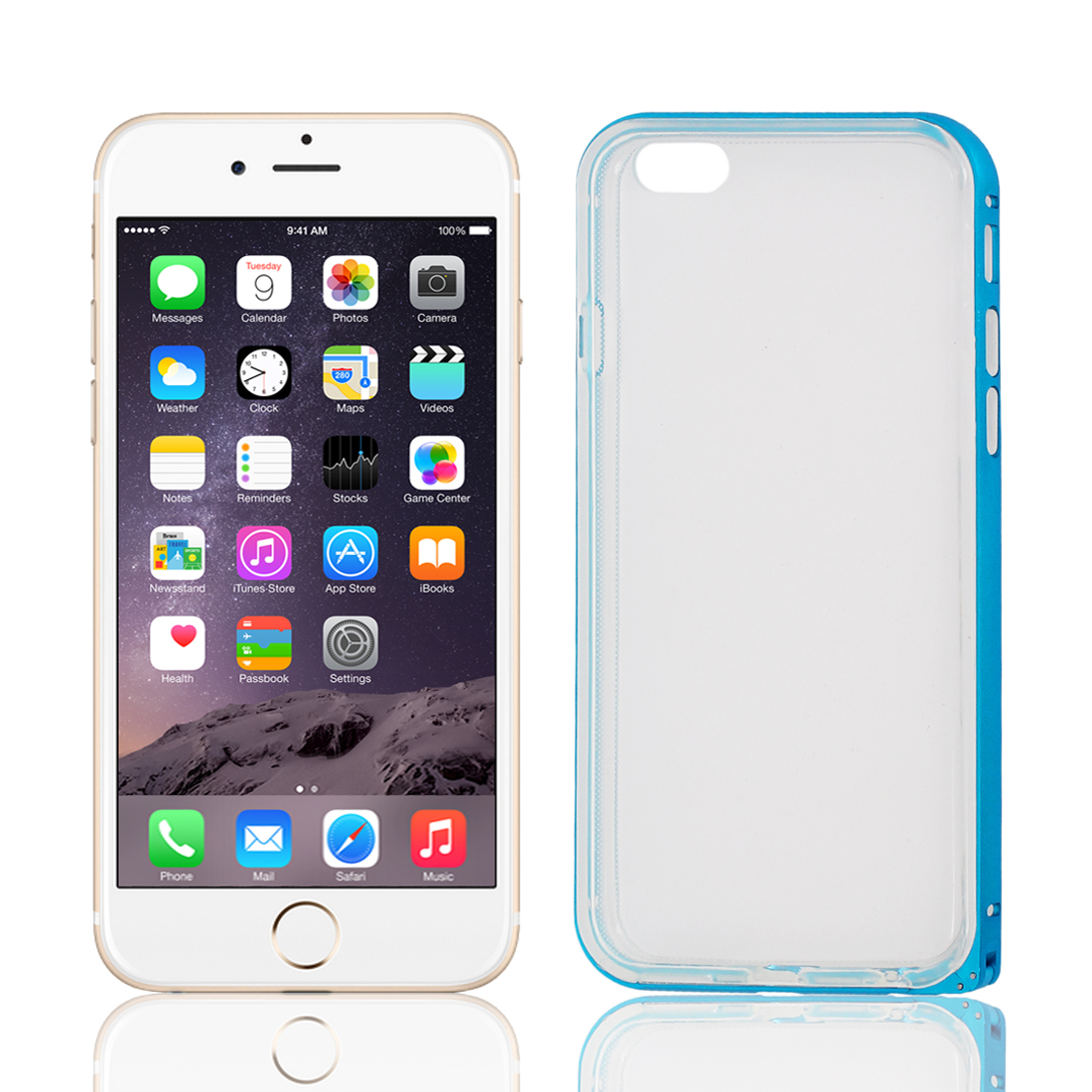 TPU Frame Clear Scrub Soft Back Cover Case Protector for Apple iPhone 6 4.7""