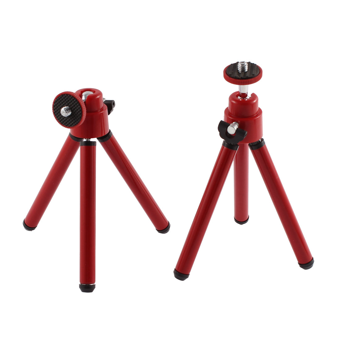 2Pcs Mini Flexible Portable Tripod Stand Holder Red for Digital Camera Phone