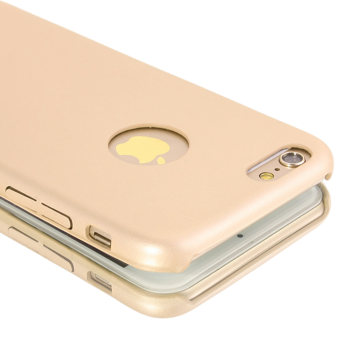 "New Luxury PU Leather Ultra-thin Case Cover For Apple iPhone 6 4.7"" Gold tone"