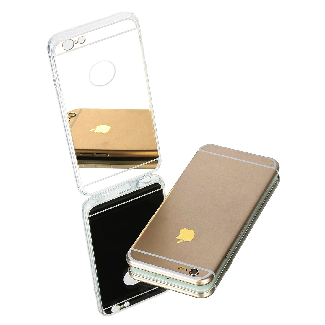 Luxury Ultra-thin Mirror Transparent TPU Case Cover For iPhone 6 Plus