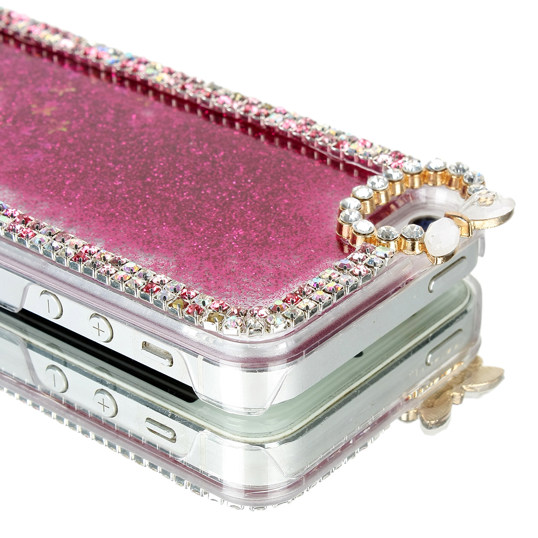 Glitter Stars Bling Dynamic Liquid Quicksand Case Cover For iPhone 5/5S Plus