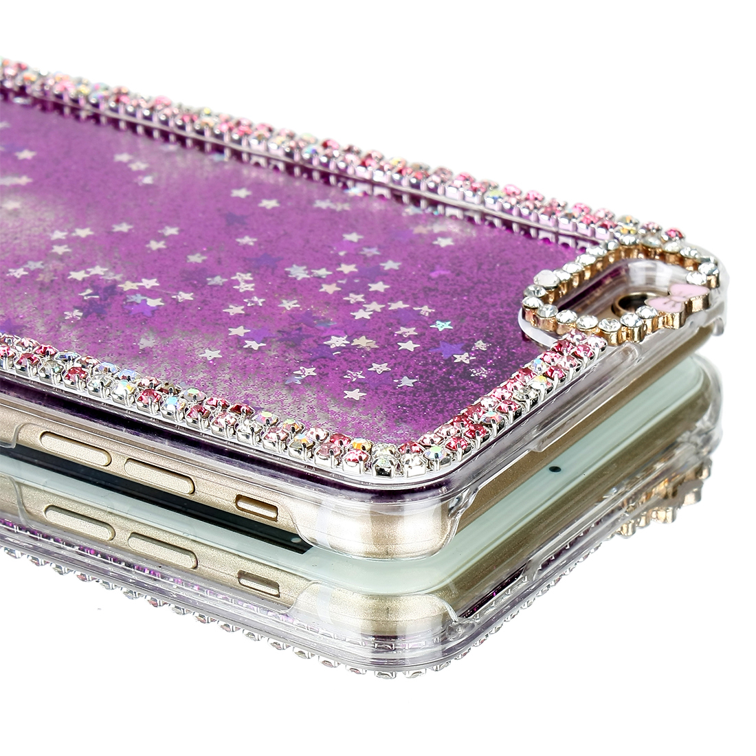 New Luxury Crystal Bling Faux Diamond Quicksand Case Cover For iPhone 6 Plus