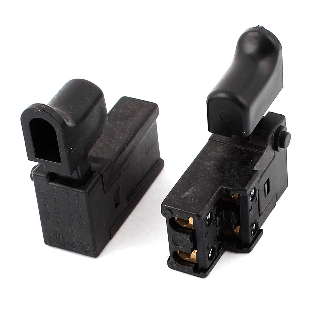AC 250V 6A DPST NO NC Latching Electric Power Tool Trigger Switch FA2-6/2W 2pcs