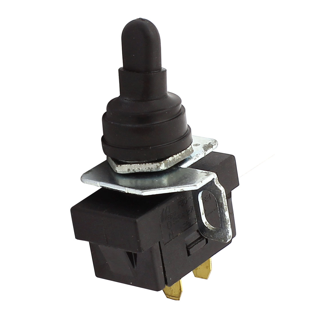 AC 250V 5(5)A 12mm Thread SPST 2 Position ON-OFF Latching Toggle Switch