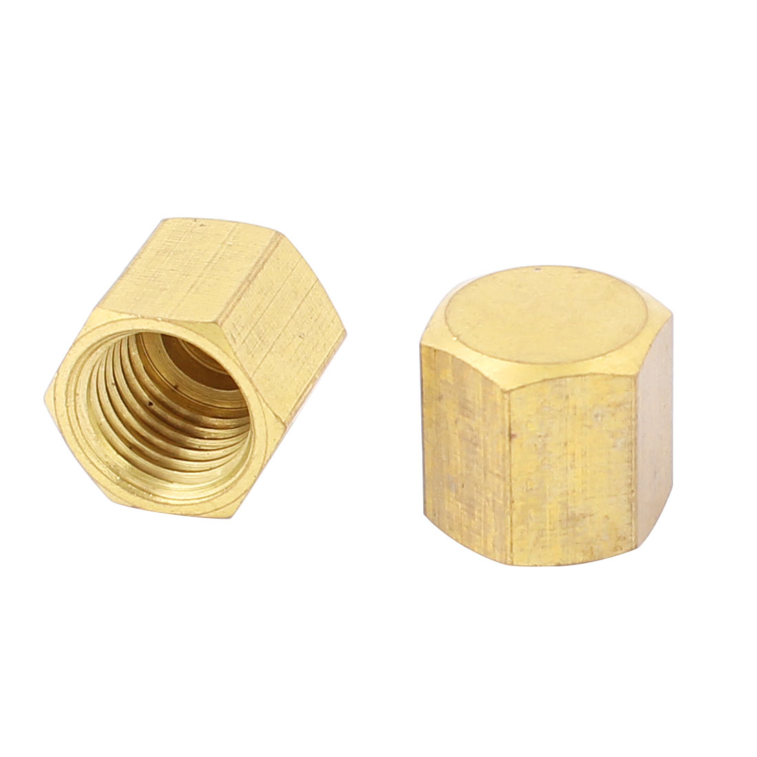 Air Conditioner 1/8NPT Thread Hex Head Pipe Connector Fitting 2pcs