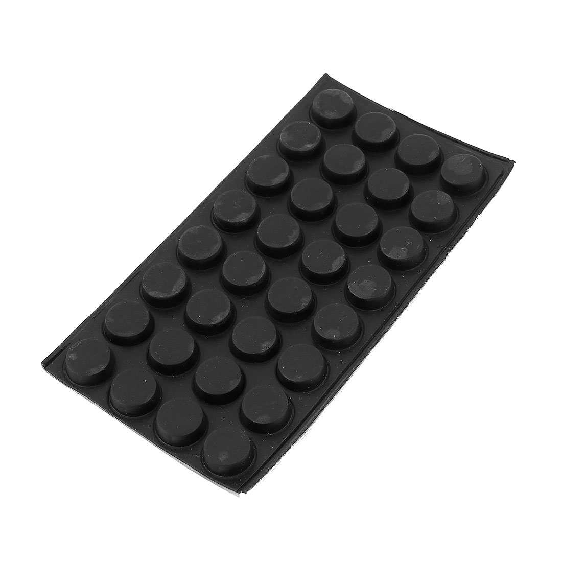 Round Shape Rubber Table Chair Furniture Leg Protect Mat Pad Black 32pcs
