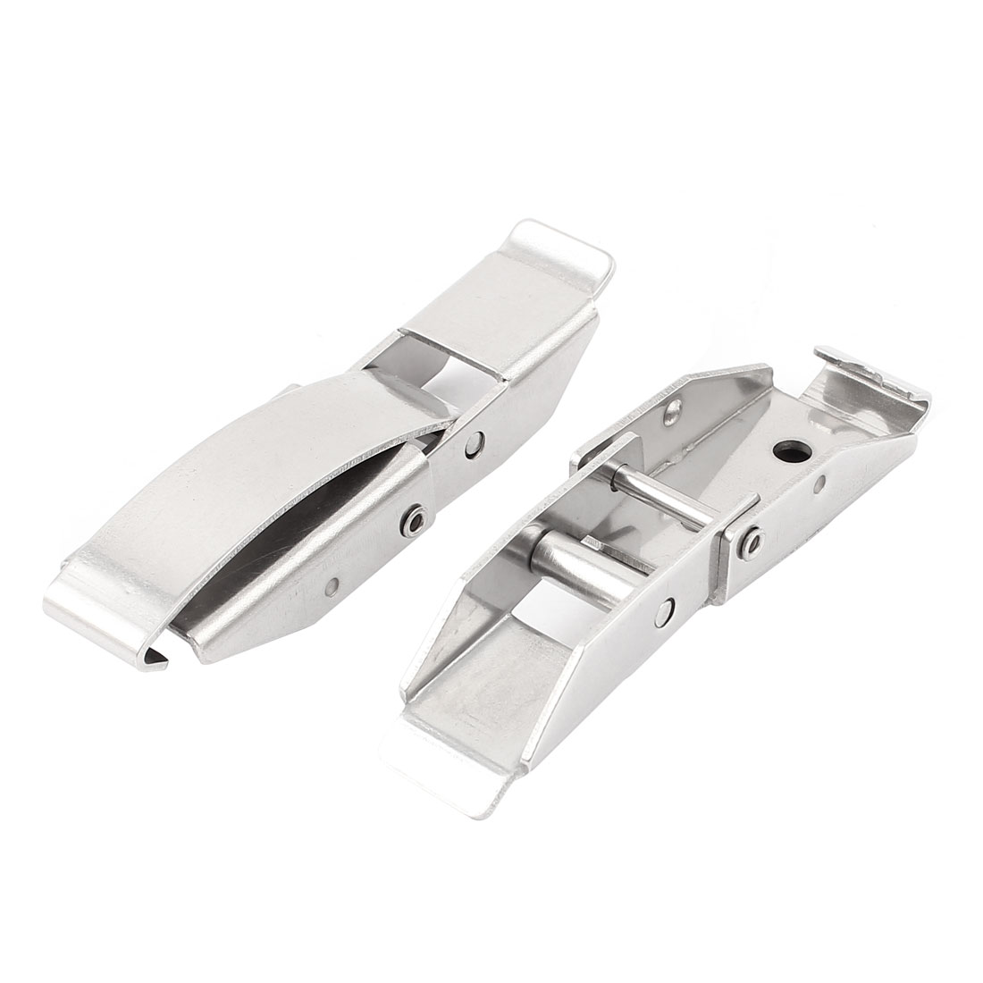 Suitcase Case Box Locking Spring Loaded Toggle Latch Catch Hasp Silver Tone 2pcs
