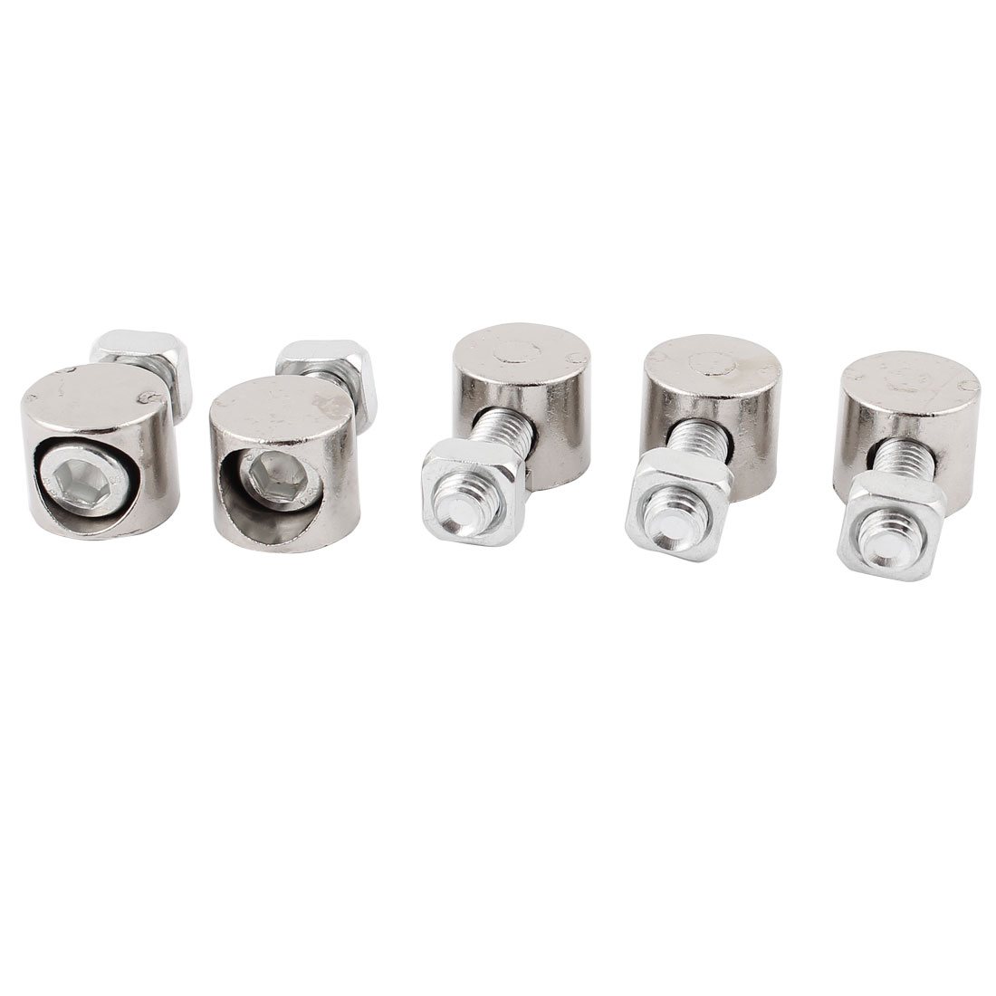 5Pcs Profile Inner Connector T Slot Anchor Fastener for 8mm Thread Dia