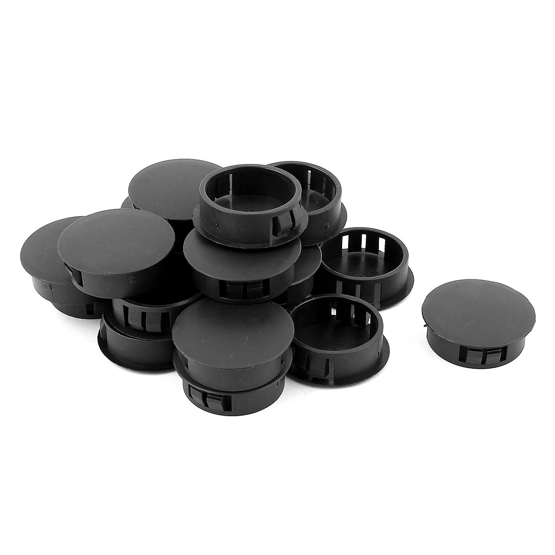 30Pcs SKT-30 Black Insulated Snap in Mounting Locking 30mm Panel