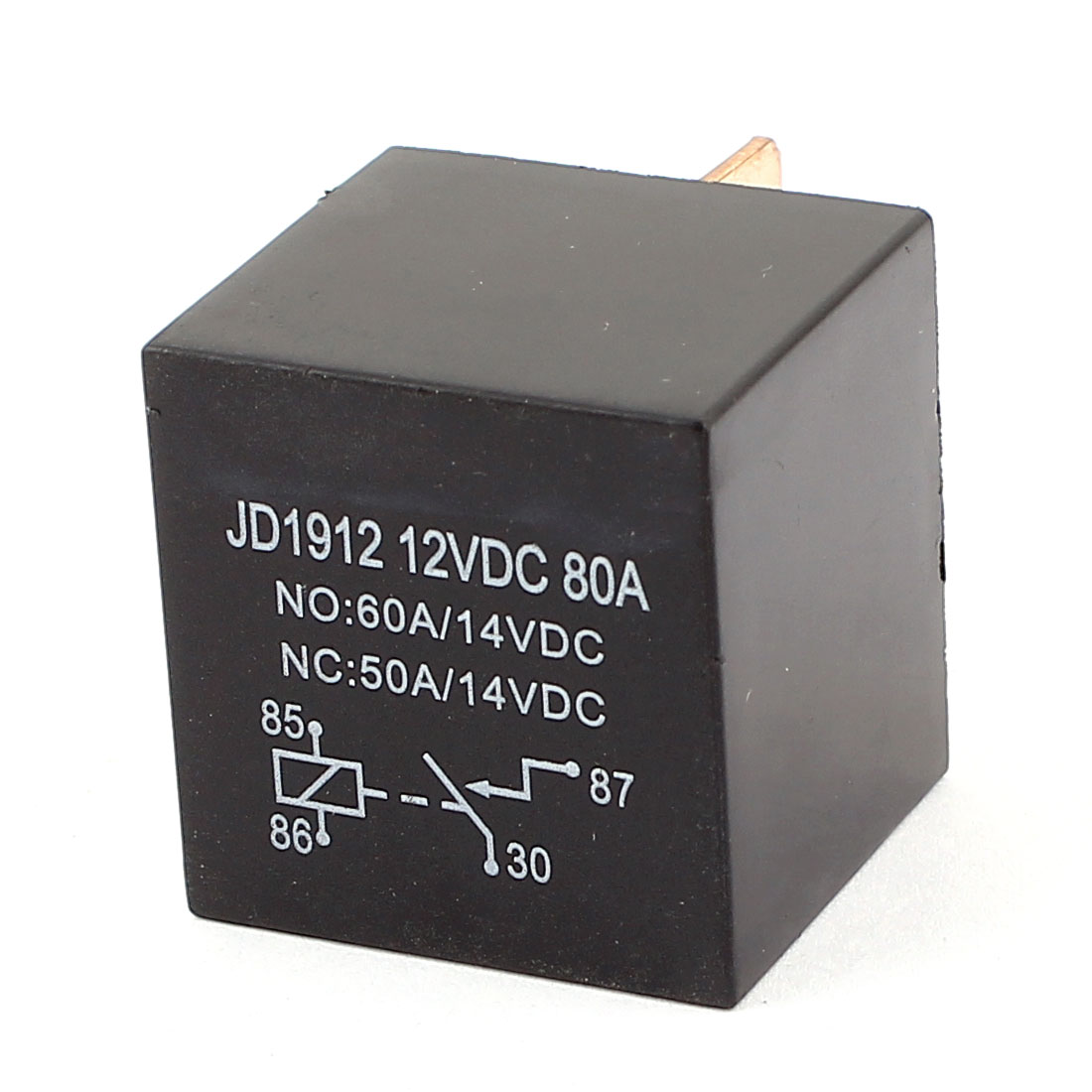 DC 12V 80A 4 Pins SPST Normal Open Socket in Mount Car Auto Coil Power Relay
