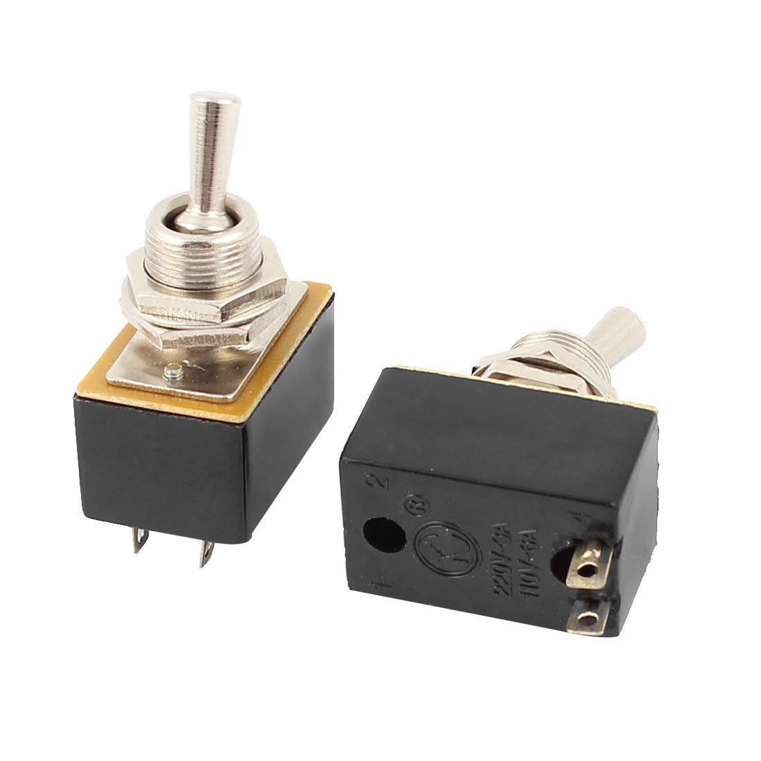 AC 220V/3A 110V/6A ON/OFF 2 Positions SPST Latching Toggle Switch 2pcs