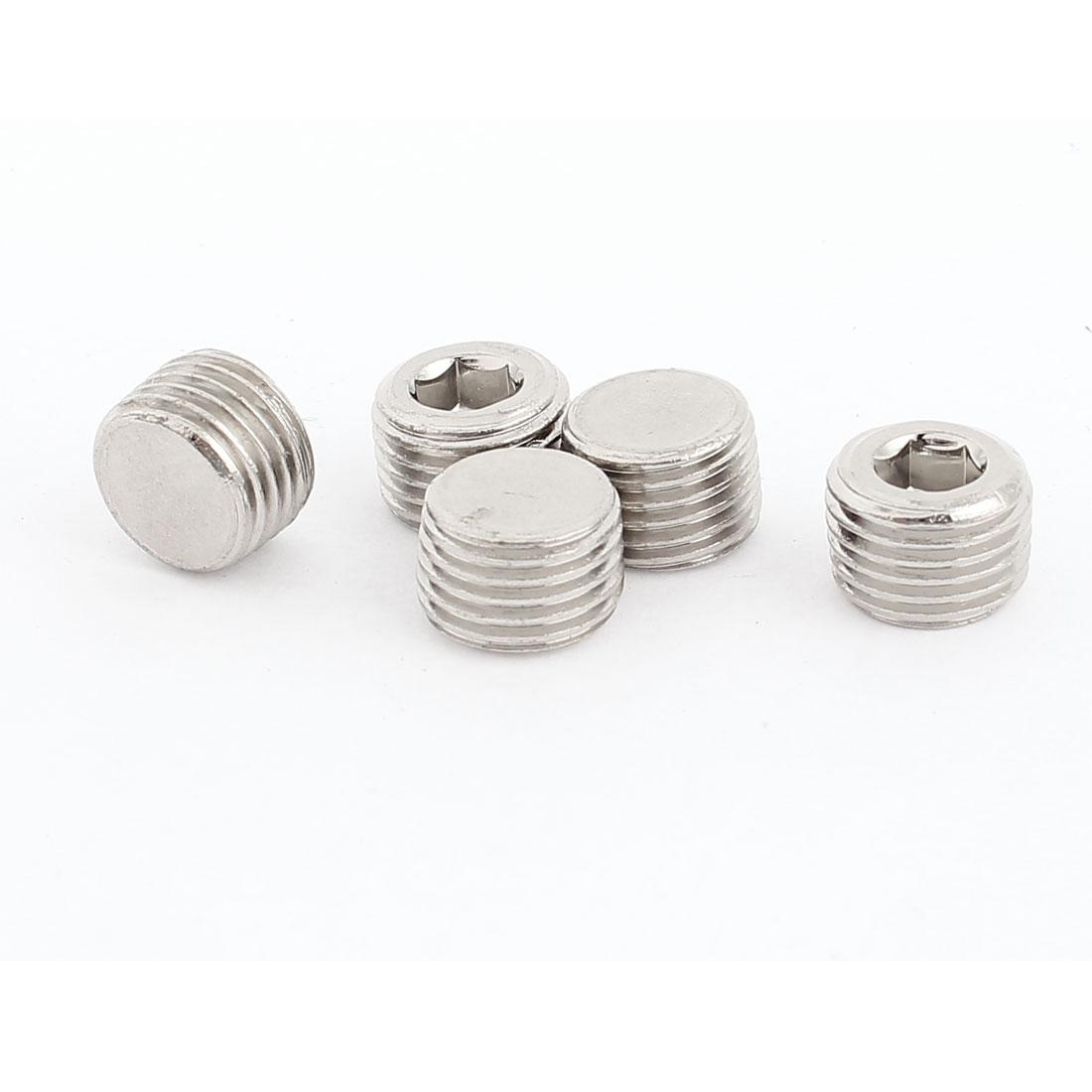 13mm x 9mm Stainless Steel Hex Socket Set Cap Point Grub Screws 5pcs