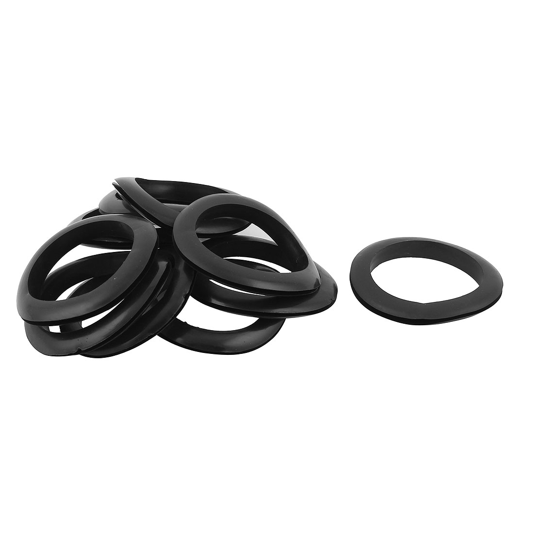 10pcs Black Rubber Grommet Electrical Cable Wire Gasket 60mmx65mm