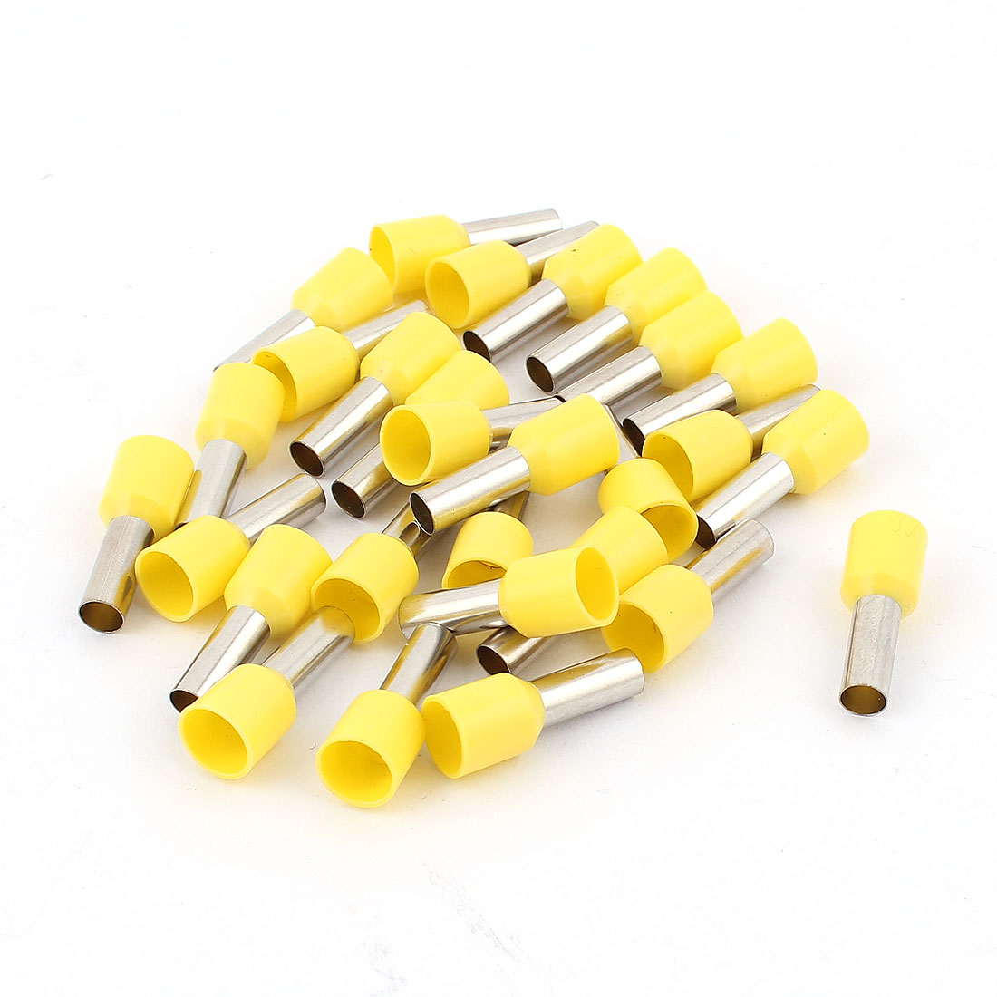 28pcs Yellow Pre Insulation Ferrule Wire Wiring Connector Terminals for 10-12AWG Cable