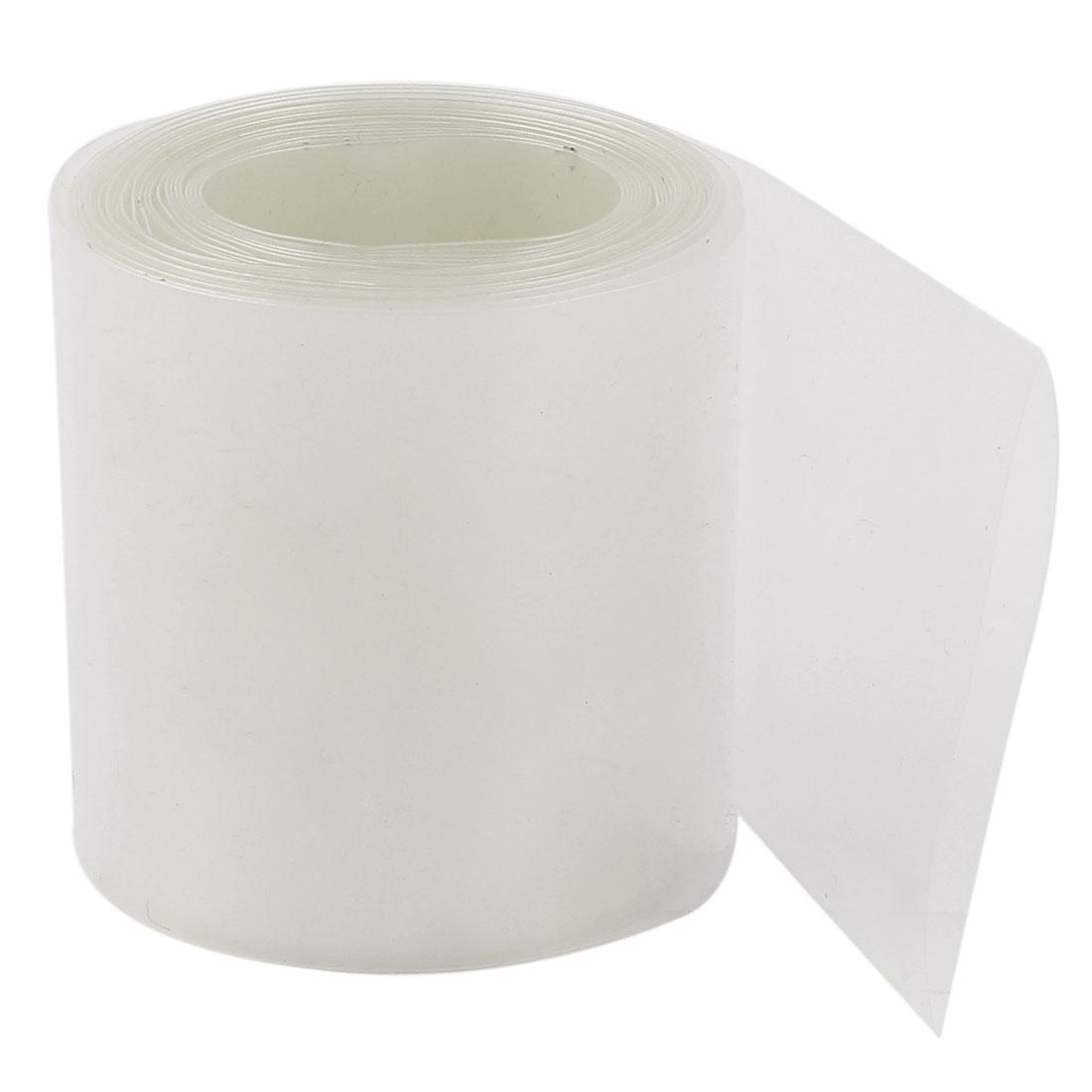Clear 2:1 Polyolefin Heat Shrink Tubing Shrinkable Tube 5cm Wide 3Meter 10Ft