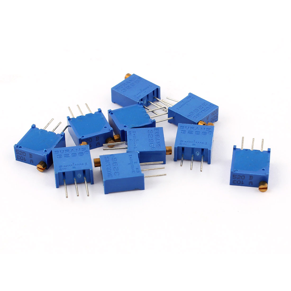 10Pcs 3296W-103 10K Ohm Trimmer Trim Pot Potentiometer Variable Resistors