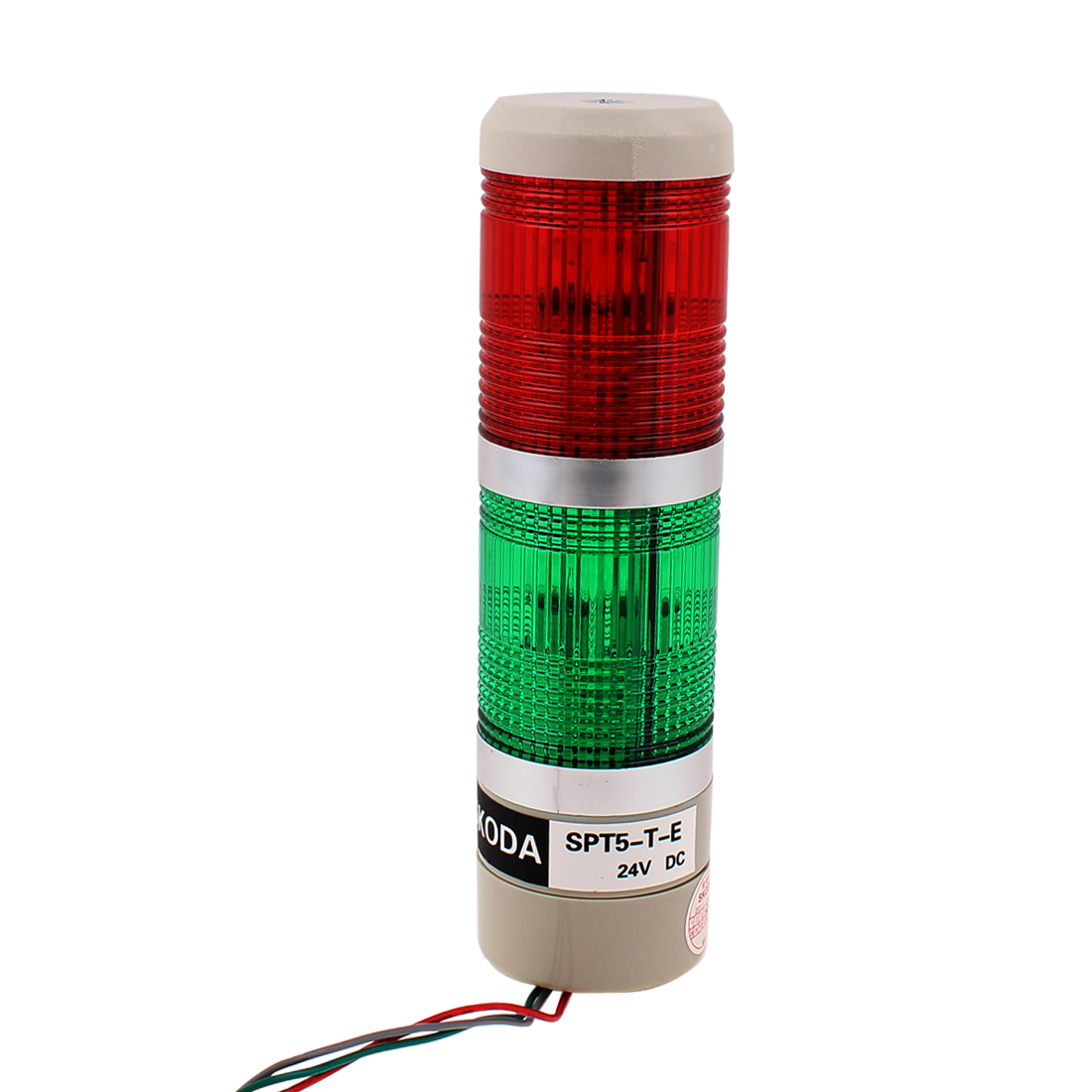 DC 24V Green Red Signal Tower Lamp Industrial Warning Stack Light SPT5-T-E