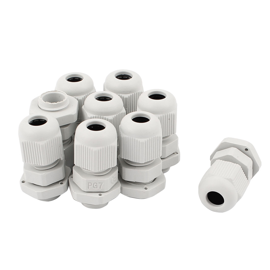 9pcs Plastic PG7 1/4NPT Thread 3-6.5mm Wire Waterproof Fastener Cable Gland