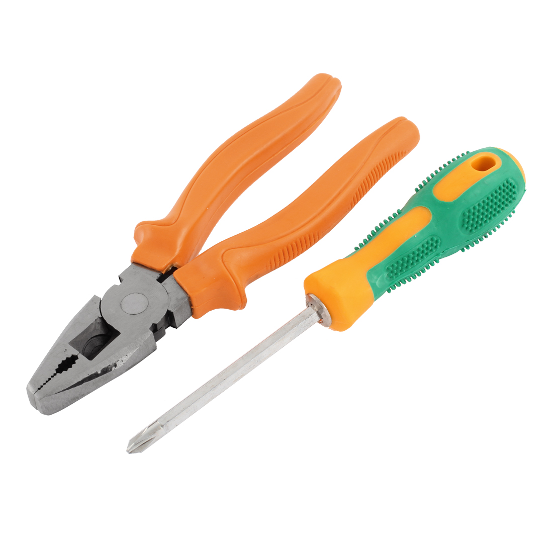Home Office Hand Tools Combination Pliers Cross Screwdriver Set 2 In 1