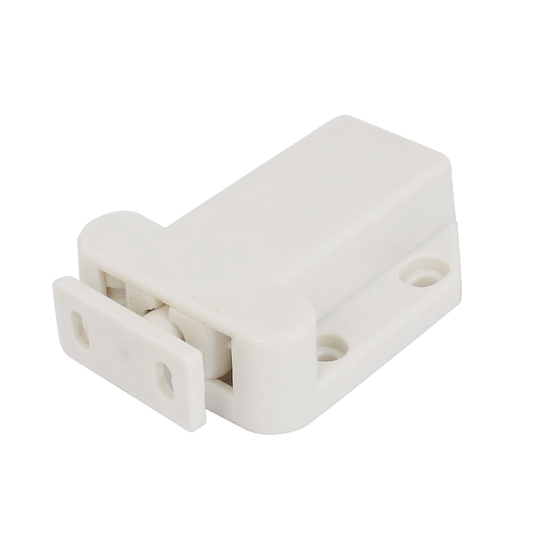 Housewares Cupboard Door Catch Touch Latch White 3mm Mounting Hole