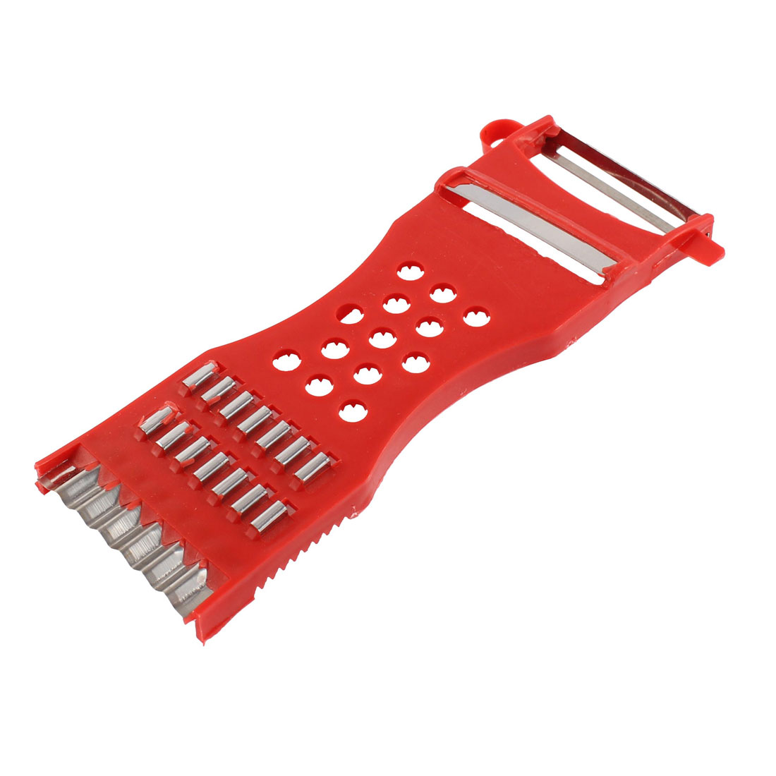 Home Kitchen Red Handle Metal Cutter Fruit Vegetable Peeler Grater Slicer Carrot Potato Cutter