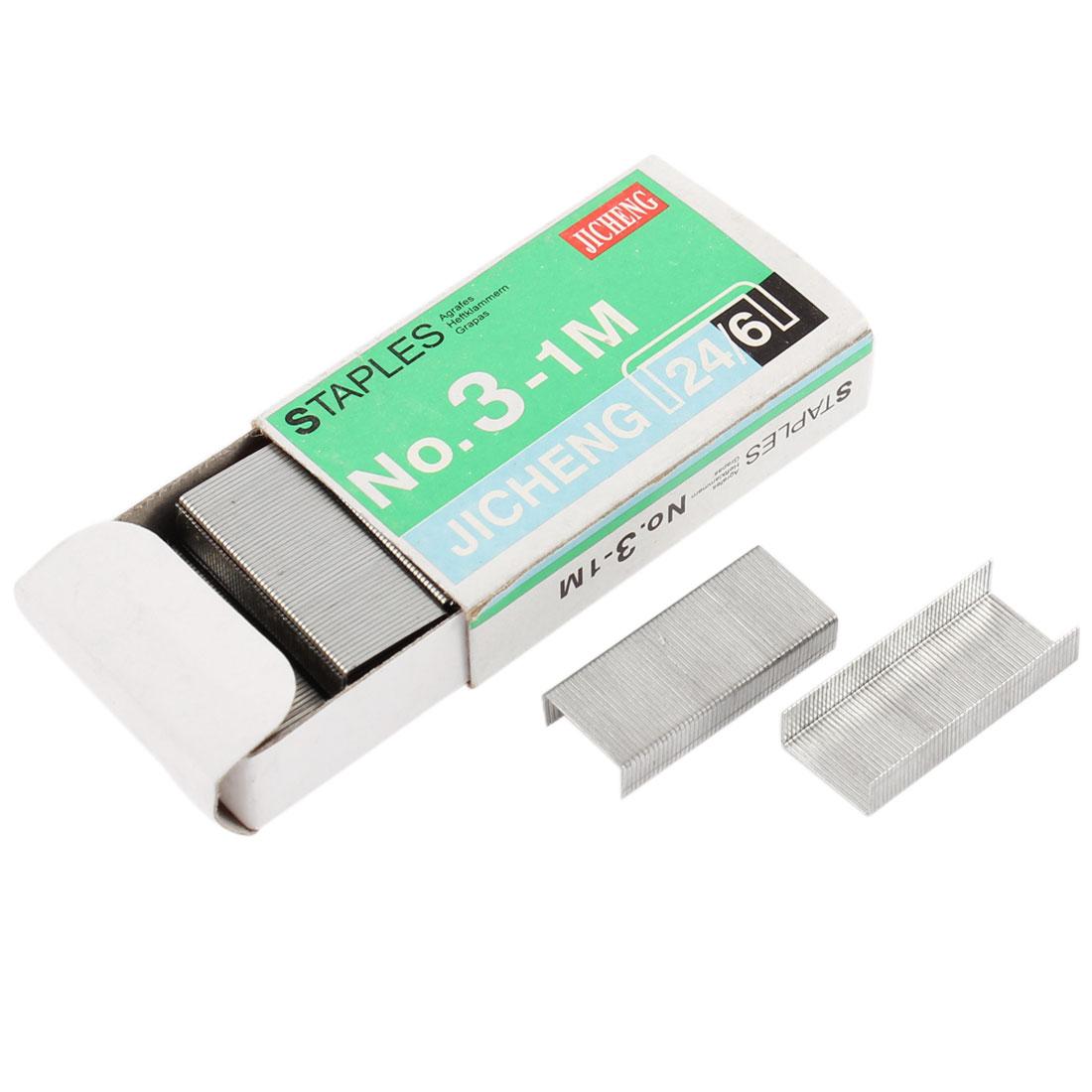 800 Pcs Metal Paper Staples Document Binding Fastener for Office School