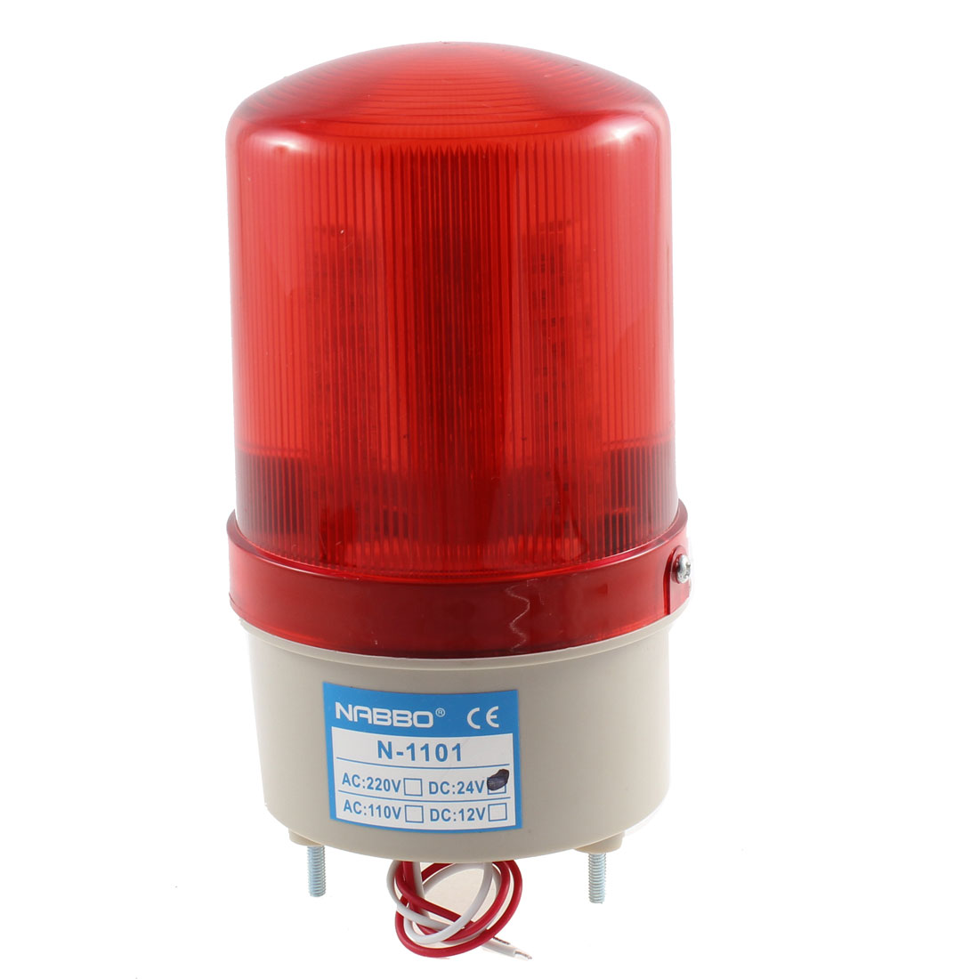 DC 24V Industrial Alarm System Red Rotary Warning Signal Light Lamp N-1101