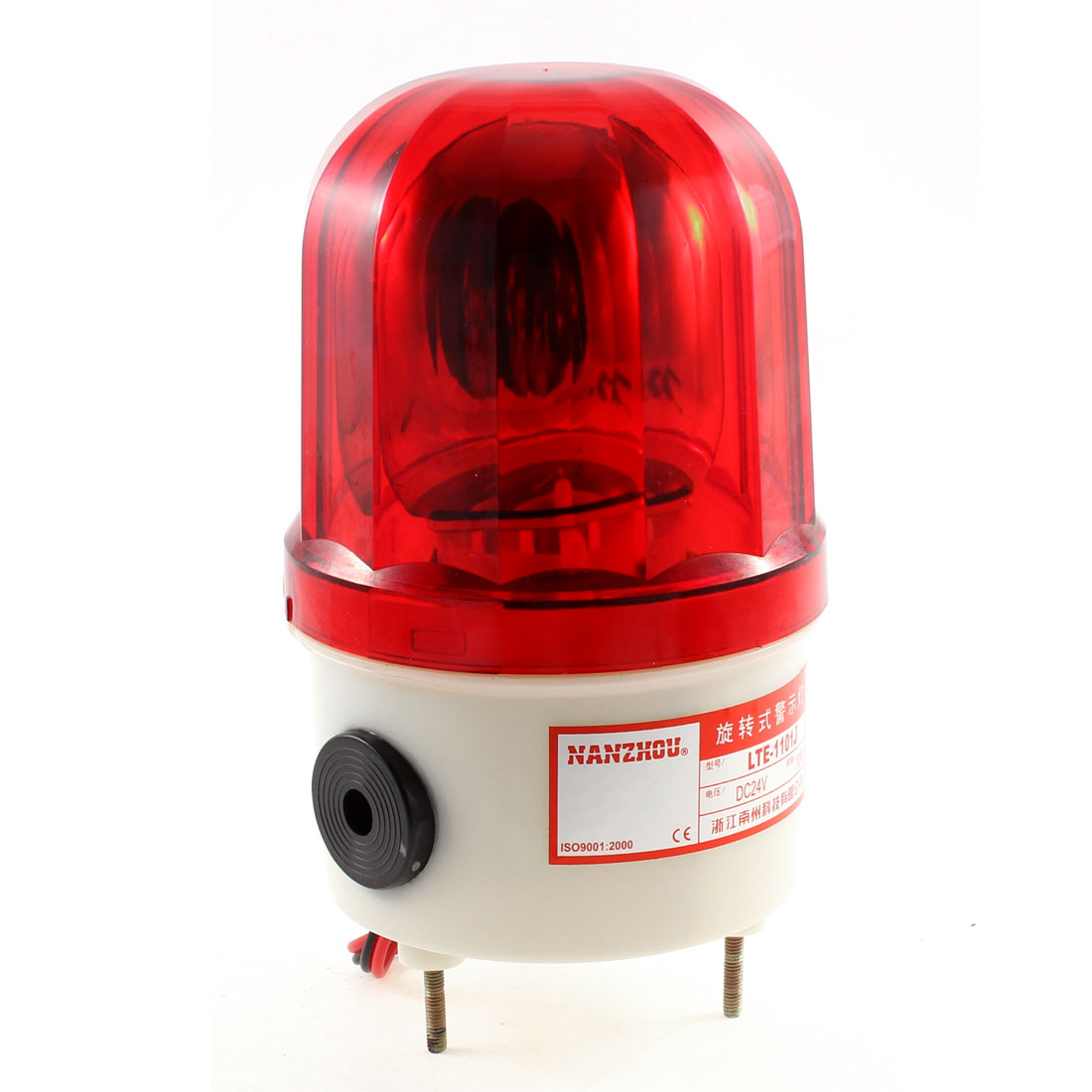 DC 24V 10W Industrial Alarm System Red Rotating Buzzer Warning Light LTE-1101