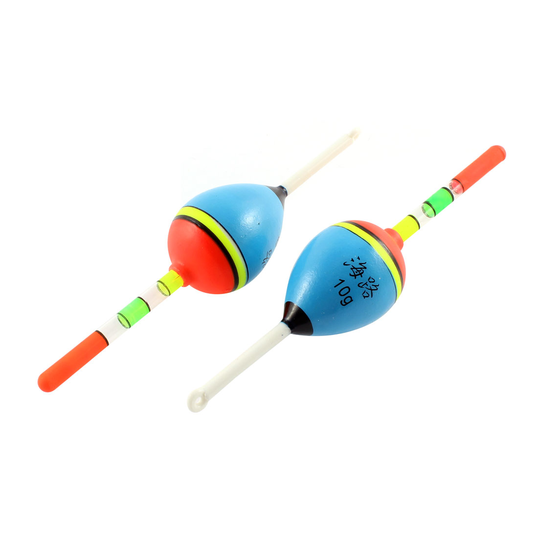 2 Pcs Striped Fishing Float Water Slip Bobber Floater Fish Gear Angling Tool for Fisherman