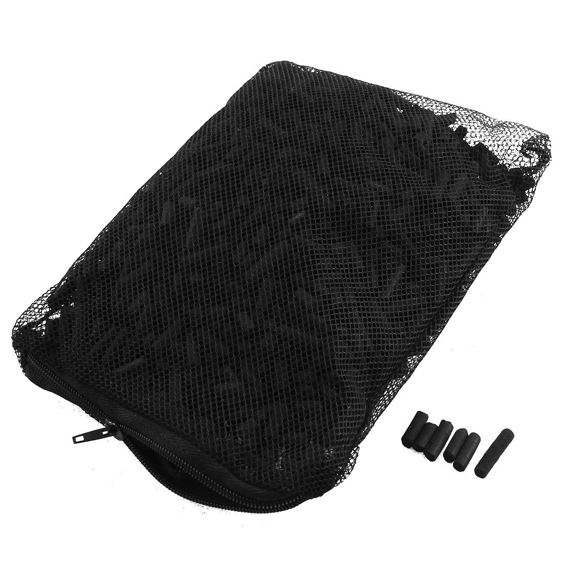 500g 4.8mm Dia Aquarium Activated Carbon Pond Canister Filter w Mesh Bag for Fish Tank Fishbowl