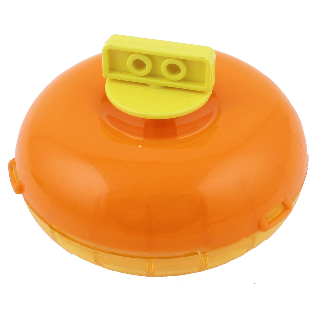Orange Plastic Flying Disc Trainning Puppy Flyer Throwing Fetch Catcher Dog Pet Frisbee Toy