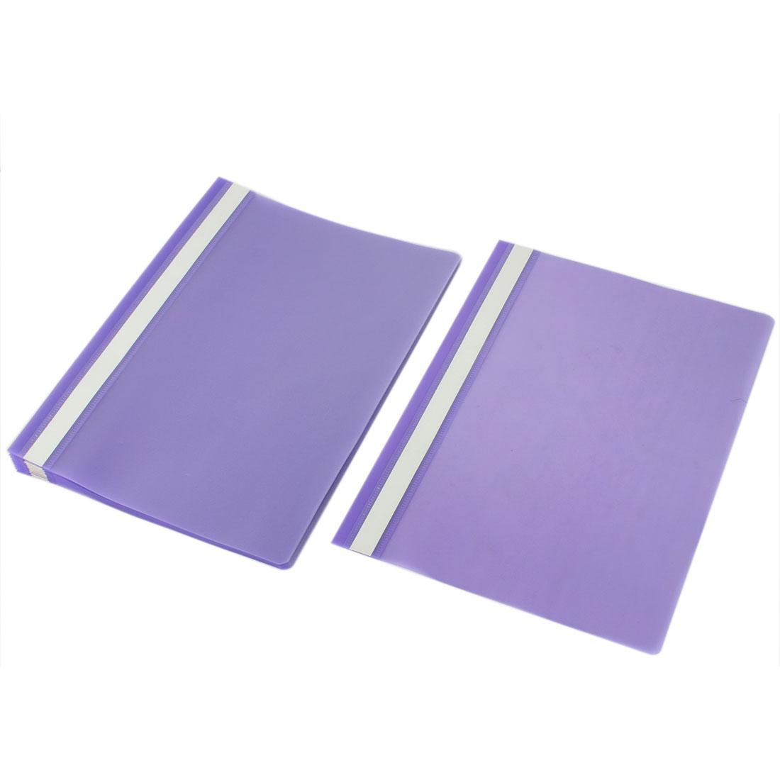 12pcs Purple Clear Plastic A4 Paper Doucument File Bag Folder Holder Organizer Pouch