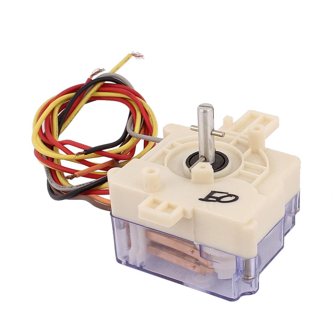 AC 220V 3A 6 Wires 90 Degree Rotary Shaft Washing Machine Washer Timer