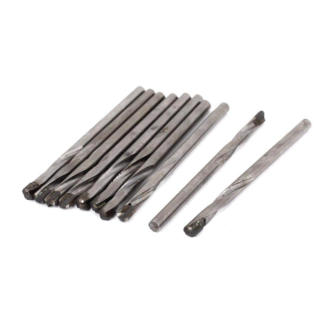 Woodworking Straight Shank 4mm Carbide Tipped Drilling Twist Drill Bit 10pcs