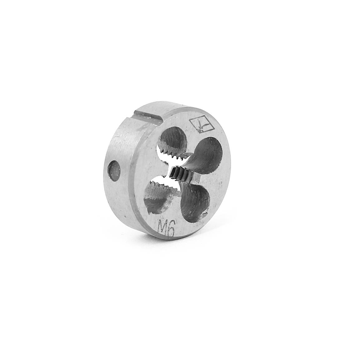 M6 x 1mm 20mm OD Adjustable NPT Pipe Taper Round Split Threading Thread Die
