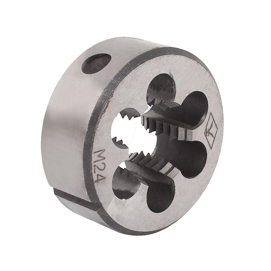 M24 x 3mm 55mm OD Adjustable NPT Pipe Taper Round Split Threading Thread Die