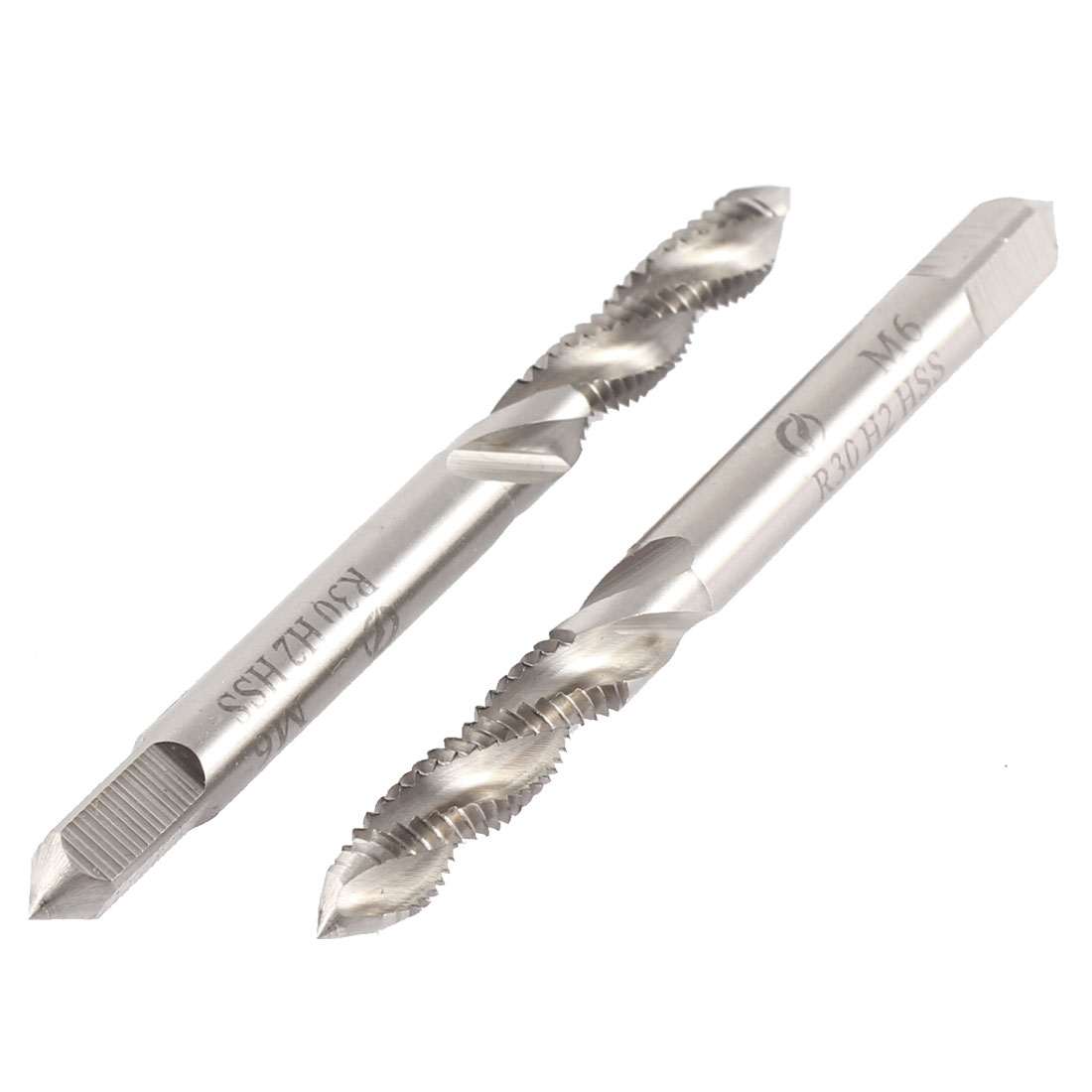 Machinists M6 x 1mm Spiral Screw Flute Machine Thread Metric Taps 2pcs