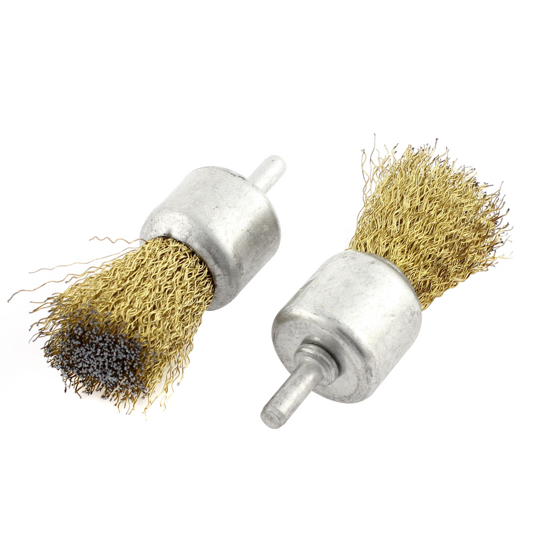 28 x 30mm Steel Wire Pen Shape Polishing Grinding Brush Rotary Tool 2pcs